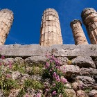 Delphi archeological site, temple of Apollo