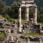 Delphi archeological site, sanctuary of Athena Pronaia