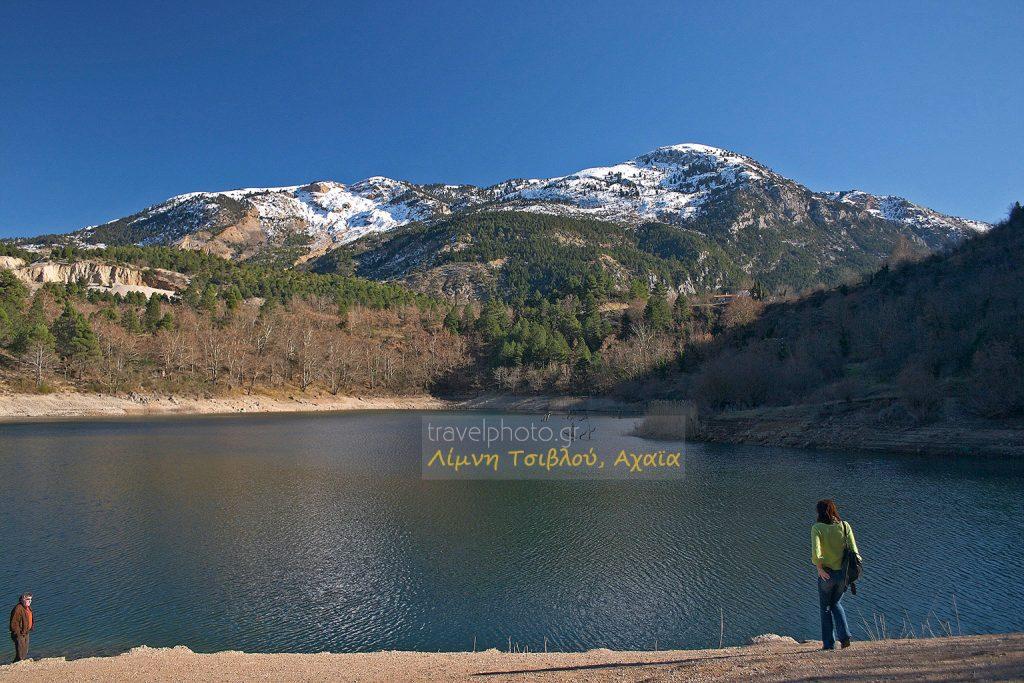 Η Λίμνη Τσιβλού στο νομό Αχαίας.