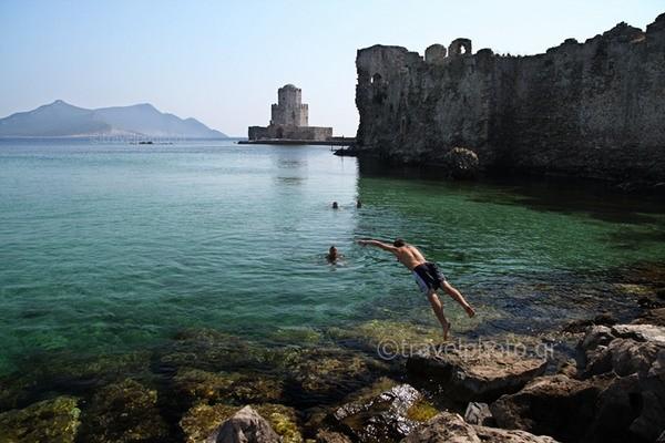 Methoni, castle and Bourtzi tower