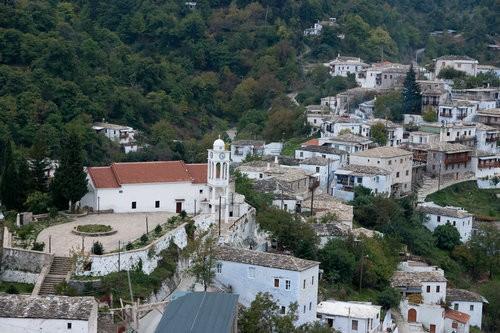 Kastanitsa village in Arcadia Peloponnese