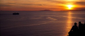 Sounio temple sunset view