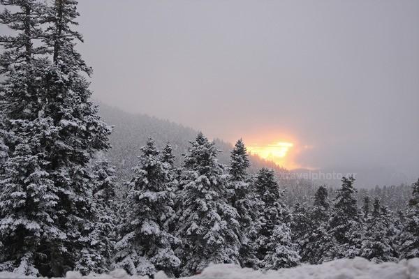 Parnassos mountain sunset