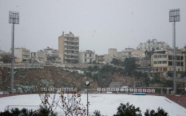 Athens, snowfall in Kallithea