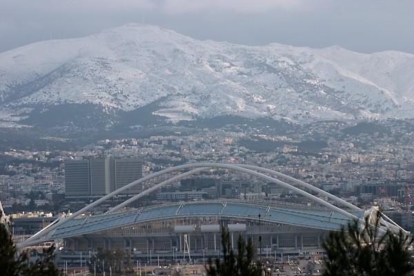 Olympic stadium-Penteli-Pedeli-snow