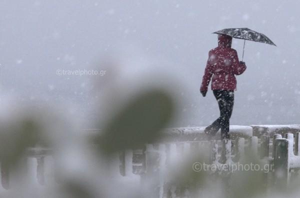 Χιονοπτωση στην Αθήνα