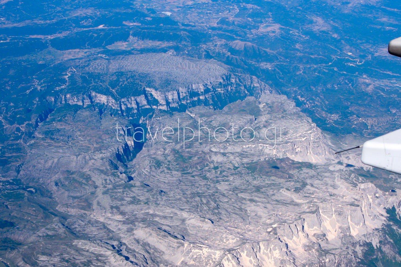 Φαράγγι Βίκου, αεροφωτογραφία