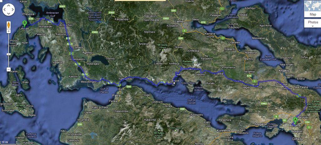 Αθήνα Λευκάδα μέσω Ναυπάκτου
