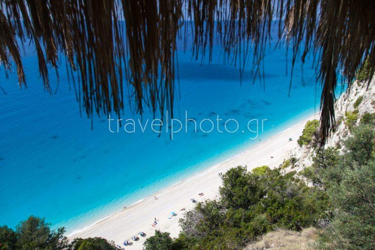 Egremni beach in Lefkada before the 2015 earthquake