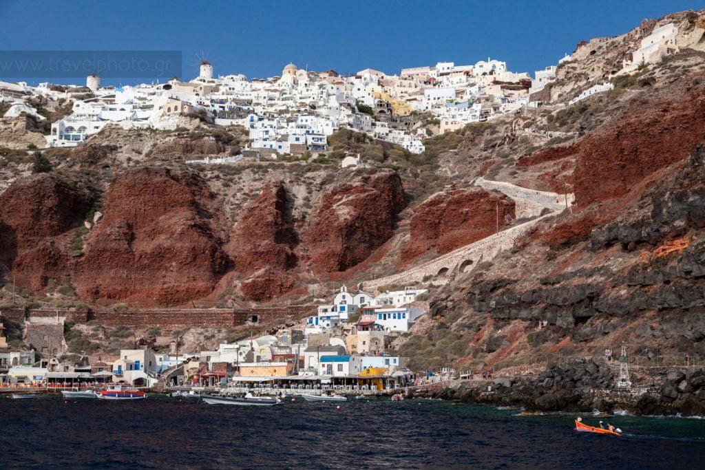 Οία και Αμμούδι, Santorini island