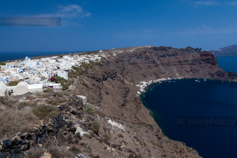 Thirassia island, part of prehistoric Thira (Santorini)